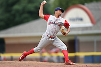 Williamsport Crosscutters pitcher Manny Martinez (7) delivers a pitch during a game against the Batavia Muckdogs on July 27, 2014 at Dwyer Stadium in Batavia, New York.  Batavia defeated Williamsport 6-5.  (Mike Janes/Four Seam Images)