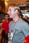 Evgeni Viktorovich Plushenko arrives at the Mission Hills Celebrity Pro-Am on 23 October 2014, in Haikou, China. Photo by Xaume Olleros / Power Sport Images