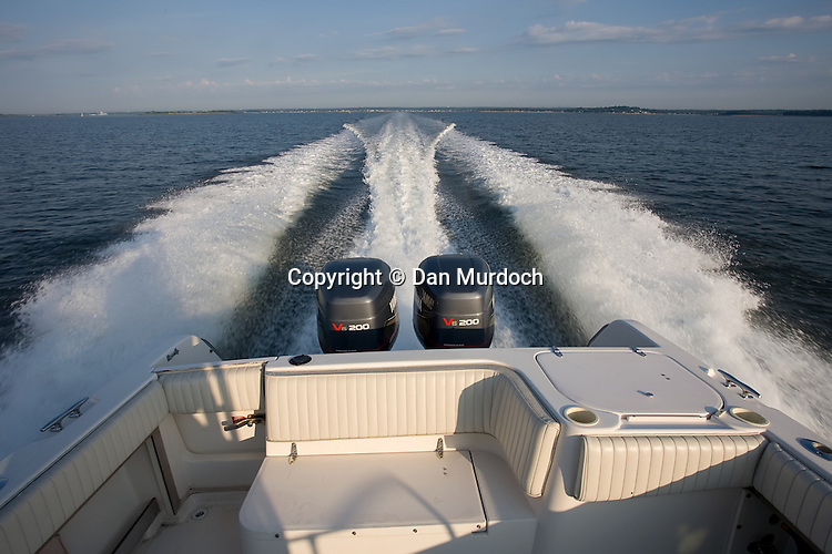 Wake of a twin outboard powerboat