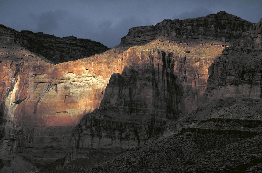 Cliffs along Colorado River. Arizona USA Grand Canyon National Park.