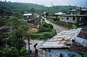 Housing in the Pedro Tea Estate in Nuwareliya in Central Sri Lanka.  Photo: Sanjit Das/Panos