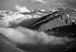 clearing storm in Forest Canyon from Trail Ridge, summer evening in Rocky Mountain National Park, Colorado, USA