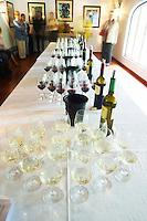 Wine tasting. Wine glasses. Tasting room. JM Jose Maria da Fonseca, Azeitao, Setubal, Portugal