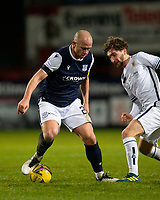 29th December 2020; Dens Park, Dundee, Scotland; Scottish Championship Football, Dundee FC versus Alloa Athletic; Charlie Adam of Dundee takes on Ray Grant of Alloa Athletic