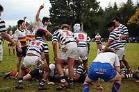 Action from the Otago 1st XV secondary schools rugby union match between John McGlashan College and Otago Boys' High School at John McGlashan College in Dunedin, New Zealand on Saturday, 4 July 2020. Photo: Joe Allison / lintottphoto.co.nz
