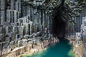 Fingal's Cave, showing basalt columns, Isle of Staffa, Inner Hebrides, Scotland, UK