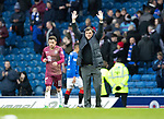Rangers v St Johnstone…16.02.19…   Ibrox    SPFL<br />Tommy Wright salutes the travelling saints fans at full time<br />Picture by Graeme Hart. <br />Copyright Perthshire Picture Agency<br />Tel: 01738 623350  Mobile: 07990 594431