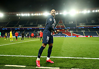 Soccer Football - Champions League - Round of 16 Second Leg - Paris St Germain v Borussia Dortmund - Parc des Princes, Paris, France - March 11, 2020  Paris St Germain's Neymar celebrates after the match    <br /> Photo Pool/Panoramic/Insidefoto