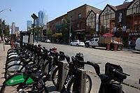 Toronto (ON) CANADA - July 2012 - Queen street west - BIXI stand