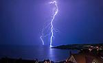 250620 Lightning storm at Langand Bay Swansea UK