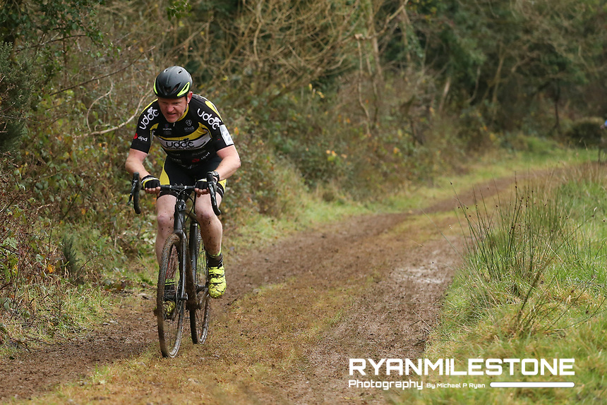 EVENT:<br /> Round 5 of the 2019 Munster CX League<br /> Drombane Cross<br /> Sunday 1st December 2019,<br /> Drombane, Co Tipperary<br /> <br /> CAPTION:<br /> Jerry Ryan of Upperchurch Drombane Cycling Club in action during the A Race - M50<br /> <br /> Photo By: Michael P Ryan