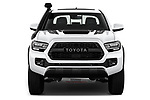 Car photography straight front view of a 2020 Toyota Tacoma TRD-Pro 4 Door Pick-up Front View