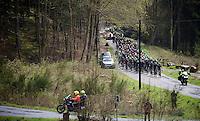 peloton up the Col du Rosier<br /> <br /> 102nd Liège-Bastogne-Liège 2016