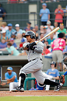 Winston-Salem Dash catcher Yermin Mercedes (6) at bat during a game against the Myrtle Beach Pelicans at Ticketreturn.com Field at Pelicans Ballpark on July 22, 2018 in Myrtle Beach, South Carolina. Winston-Salem defeated Myrtle Beach 7-2. (Robert Gurganus/Four Seam Images)