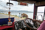Sri Lanka selection<br /> Uda Walawe reservoir:<br /> Elephant has swum 2 km across the reservoir in the hope of being fed by passing traffic.<br /> <br /> <br /> Picture by Gavin Rodgers/ Pixel8000<br />  07917221968