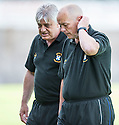 East Fife manager Willie Aitchison and assistant Kevin Drinkell.