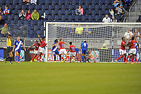 Kansas City, KS - October 15, 2014: Haiti defeated Guatemala 1-0 in a CONCACAF Women's Championship game at Sporting Park.