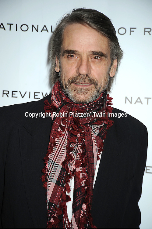 Jeremy Irons attends The National Board of Review Film Awards Gala on January 10, 2012 at Cipriani 42nd Street in New York City.