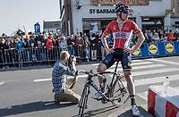 Jurgen Roelandts (BEL/Lotto-Soudal) after finishing<br /> <br /> 79th Gent-Wevelgem 2017 (1.UWT)<br /> 1day race: Deinze › Wevelgem - BEL (249km)