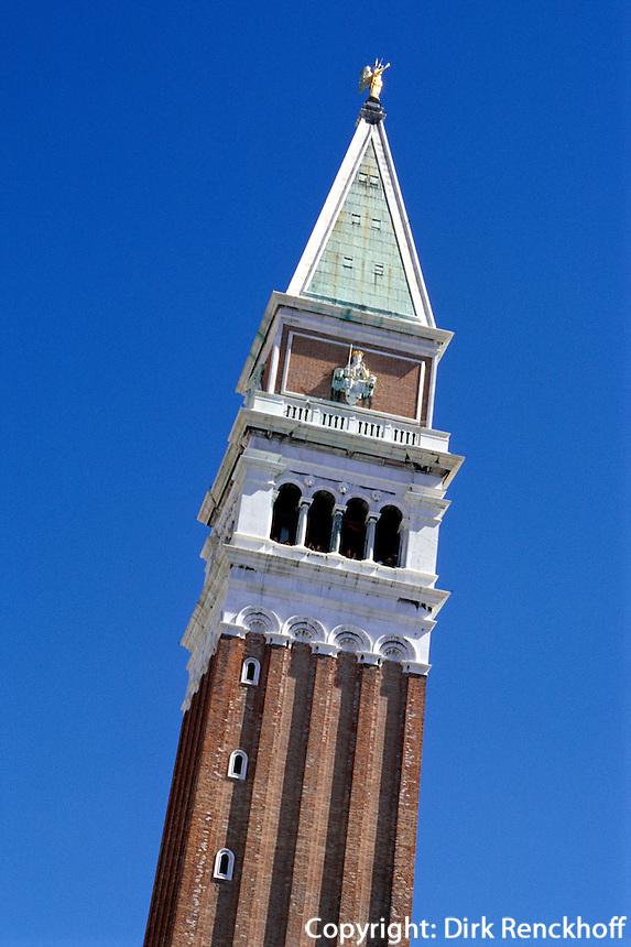 Campanile, Venedig,  Venetien, Italien, Unesco-Weltkulturerbe.