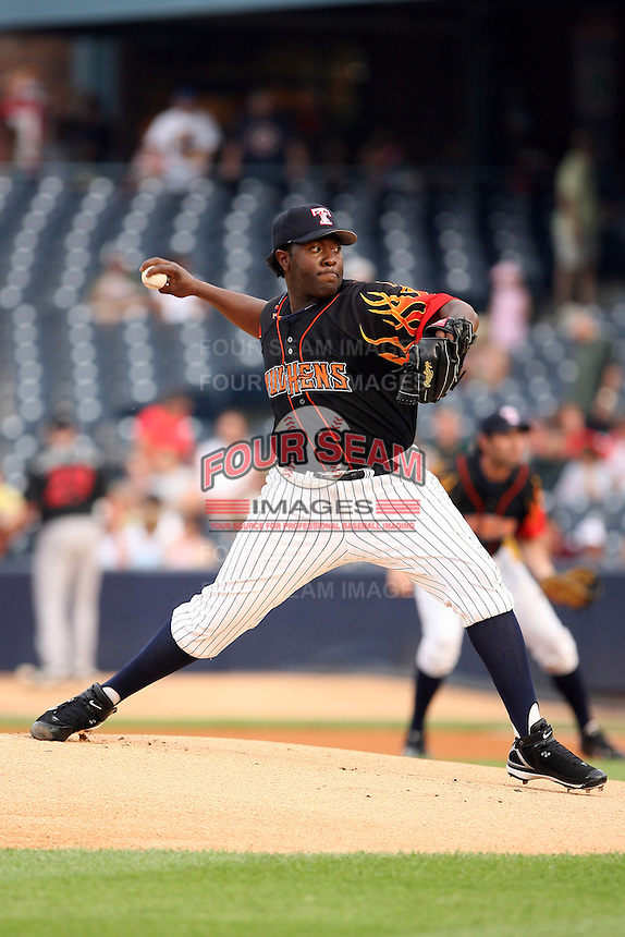 June 12th 2008:  Pitcher Anastacio Martinez of the Toledo Mudhens, Class-AAA affiliate of the Detroit Tigers, during a game at Fifth Third Field in Toledo, OH.  Photo by:  Mike Janes/Four Seam Images