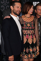 """LOS ANGELES, CA - JANUARY 07: Tobey Maguire, Kristen Wiig arriving at the Los Angeles Screening Of IFC's """"The Spoils Of Babylon"""" held at the Directors Guild Of America on January 7, 2014 in Los Angeles, California. (Photo by Xavier Collin/Celebrity Monitor)"""