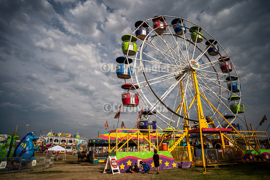 Ferris Wheel and carnival.<br /> <br /> Opening day of the 82nd annual Amador County Fair, Plymouth, California, with Mutton Bustin' and the Miss Amador Scholarship Pageant.<br /> .<br /> .<br /> .<br /> @AmadorCountyFair, #1SmallCountyFair, #VisitAmador, #PlymouthCalifornia, #AmadorCountyFair, #Best4DaysOfSummer, #AmadorCounty, #26thDAA
