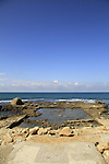 Remains of the Roman-Byzantine Promontory Palace in Caesarea National Park on Israel's central Mediterranean coast