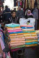 Tripoli, Libya - Towel Vendor in Medina (Old City)