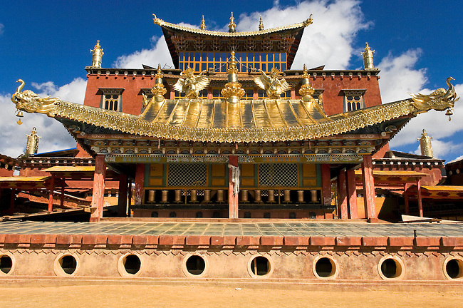 Tibetan Minority of Yunnan's Zhongdian District maintain their traditions of farming and religion. Geden Songzanlin Monastery is the largest Tibetan Buddhist monastery in Yunnan and is one of the thirteen largest lamaseries in the combined area of Tibet, Sichuan and Yunnan. It is a faithful imitation of the Dalai Lama's  Potala Palace in Lhasa, Tibet.