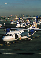 Airplanes at Newark Airport. Newark, New Jersey.