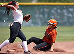 Douglas Tigers' Layne Waggoner runs against the Galena Grizzlies in a first round game of the NIAA northern region softball tournament in Reno, Nev., on Thursday, May 15, 2014. <br /> Photo by Cathleen Allison