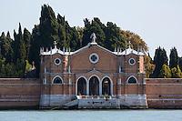 Italie, Vénétie, Venise, Île de San Michele,  île-cimetière de la ville de Venise // Italy, Veneto, Venice: Isola di San Michele, Walls of San Michele cimetery