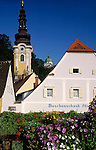 Austria, Styria, Ehrenhausen at South-Styrian Wine Route with parish church and mausoleum