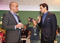 11-02-13, Tennis, Rotterdam, ABNAMROWTT, Roger Federer at VIP lounge of ABN AMRO