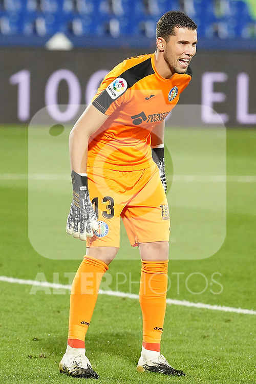 Getafe CF's David Soria during La Liga match. September 29,2020. (ALTERPHOTOS/Acero)