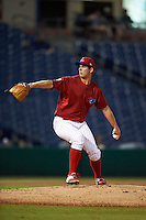 Clearwater Threshers pitcher Matt Imhof (48) delivers a pitch during the first game of a doubleheader against the Jupiter Hammerheads on July 25, 2015 at Bright House Field in Clearwater, Florida.  Clearwater defeated Jupiter 2-1.  (Mike Janes/Four Seam Images)