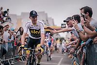 Chris Froome (GBR/SKY) at sign-on<br /> <br /> Stage 21: Houilles > Paris / Champs-Élysées (115km)<br /> <br /> 105th Tour de France 2018<br /> ©kramon