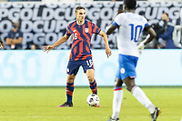 KANSAS CITY, KS - JULY 11: James Sands #16 of the United States moves with the ball during a game between Haiti and USMNT at Children's Mercy Park on July 11, 2021 in Kansas City, Kansas.