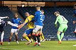 Rangers v St Johnstone…25.04.21   Ibrox.  Scottish Cup<br />Zander Clark scores for saints<br />Picture by Graeme Hart.<br />Copyright Perthshire Picture Agency<br />Tel: 01738 623350  Mobile: 07990 594431
