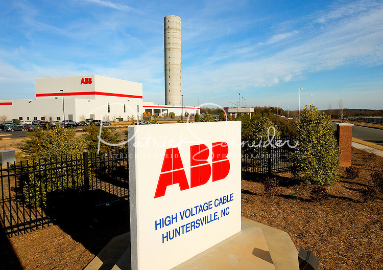 ABB, the leading power and automation technology group. The new manufacturing facility located in Huntersville, NC in northern Mecklenburg County and the greater Charlotte metropolitan area, will manufacture high-voltage power cables for use in AC and DC transmission lines...Photo by: PatrickSchneiderPhoto.com