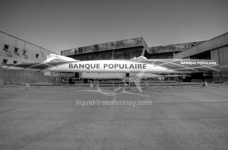 Maxi Banque Populaire V designed by VPLP and built by CDK in Lorient, Brittany, France.