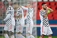 joie des joueurs de Manchester Utd apres le but de Brunio Fernandez (Man Utd) <br /> Paris  20/10/2020 <br /> Paris Saint Germain PSG - Manchester United <br /> Champions League 2020/2021<br /> Photo JB Autissier / Panoramic / Insidefoto <br /> Italy Only