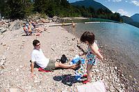Roddy and Eliza at Diablo Lake, North Cascades National Park, Washington, US