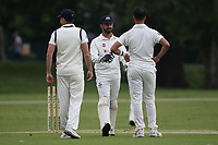 Wanstead players celebrate the wicket of R Saunders during Hornchurch CC vs Wanstead and Snaresbrook CC, Hamro Foundation Essex League Cricket at Harrow Lodge Park on 10th July 2021
