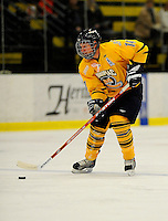 29 December 2007: Quinnipiac University Bobcats' forward Ben Nelson, a Senior from Spokane, WA, in action against the Western Michigan University Broncos at Gutterson Fieldhouse in Burlington, Vermont. The Bobcats defeated the Broncos 2-1 in the first game of the Sheraton/TD Banknorth Catamount Cup Tournament...Mandatory Photo Credit: Ed Wolfstein Photo