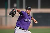 Colorado Rockies relief pitcher Hunter Williams (23) during a Minor League Spring Training game against the Los Angeles Angels at Tempe Diablo Stadium Complex on March 18, 2018 in Tempe, Arizona. (Zachary Lucy/Four Seam Images)