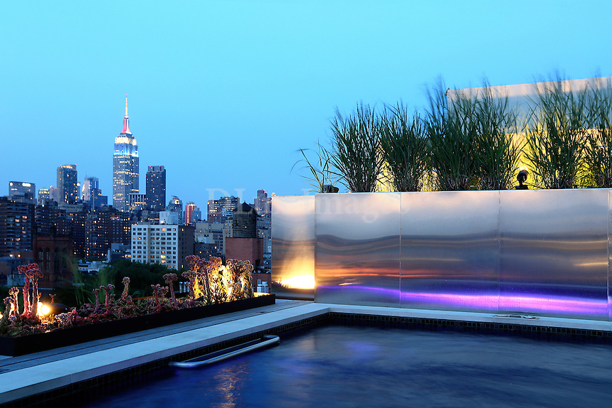 penthouse with town view