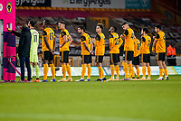 30th October 2020; Molineux Stadium, Wolverhampton, West Midlands, England; English Premier League Football, Wolverhampton Wanderers versus Crystal Palace; Wolverhampton Wanderers line up prior to the game starting
