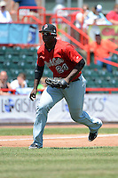 New Britain Rock Cats third baseman Miguel Sano #24 during a game against the Erie Seawolves on June 20, 2013 at Jerry Uht Park in Erie, Pennsylvania.  New Britain defeated Erie 2-0.  (Mike Janes/Four Seam Images)